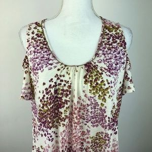 Lucky Brand Womens Blouse Top Shirt 1X Cold Should